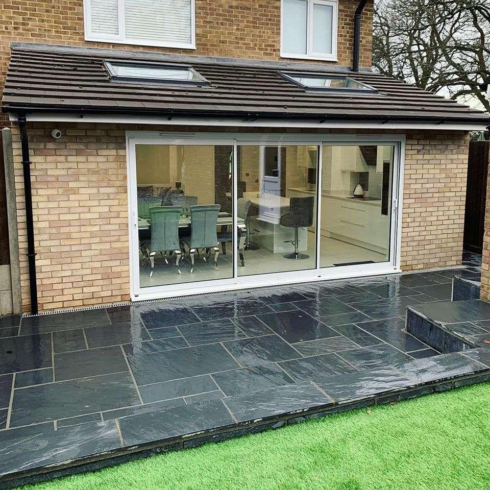 completed extension with brickwork in Hemel Hempstead